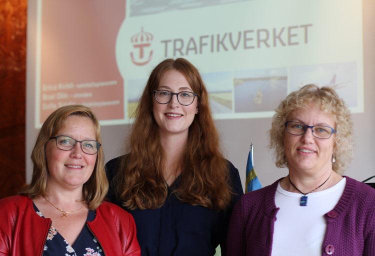 Sofia Sjödin, Erica Kvist, Boel Olin, Trafikverket.