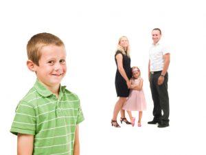 Bild på familj