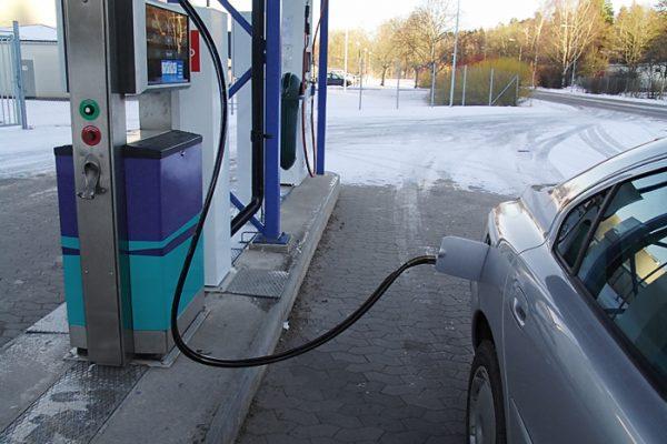 Tankställe för biogas