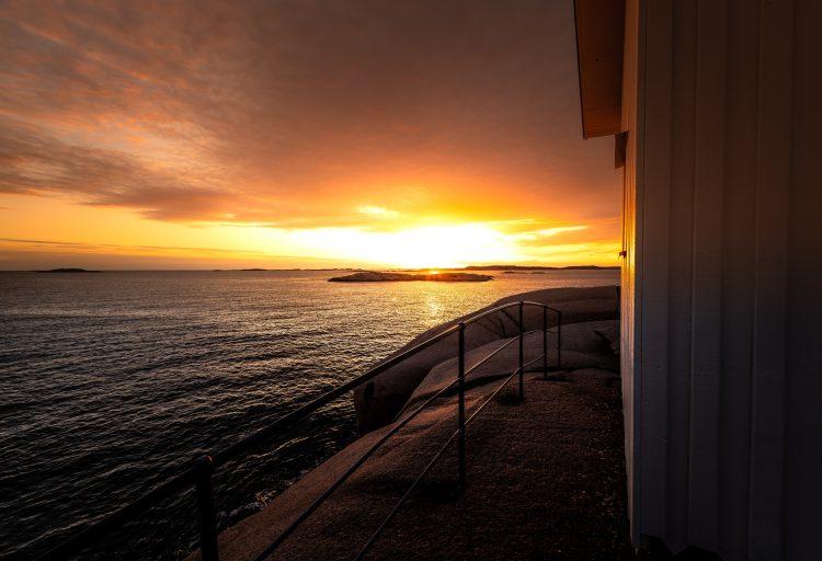 Kvällsbild över havet från Lysekil