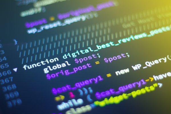 En datorskärm med programkod